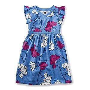 [ティコレクション]Wrap Neck Dress 子供服 キッズ 女の子 ガール コットン インポート ミニワンピース 花柄 マグノリア ブルー ガールズ ガールズ ブルー US 3T(3~4歳):日本サイズ約95~100cm (日本サイズ100 相当)