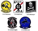U.S.NAVY アメリカ海軍スコードロンステッカー VOL.1, ミリタリーデカール (VF-41 Black Aces) [並行輸入品]
