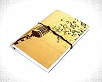 Indian Handmade Diary 8x5.5 Inch Musical Diary Office Diary Handmade Paper Diary Handmade Paper Note Book Handmade Notepad Ideal for Gifts Writing Diary - Personal & Notebooks & Journals [並行輸入品]