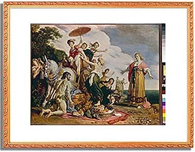 ピーテル・ラストマン「オデュッセウスとナウシカア Ulysses and Nausicaa. 1619 」 インテリア アート 絵画 プリント 額装作品 フレーム:装飾(金) サイズ:L (412mm X 527mm)