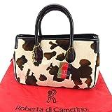 ロベルタディカメリーノ ROBERTA DI CAMERINO トートバッグ トート ハンドバッグ レディース Rチャーム付き 牛柄 [未使用] 未使用品 訳あり F1196