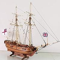 木製船モデルキットDiy教育玩具モデルボートウッド3Dレーザーカットスケール1/50趣味1768解像度フルリブキット