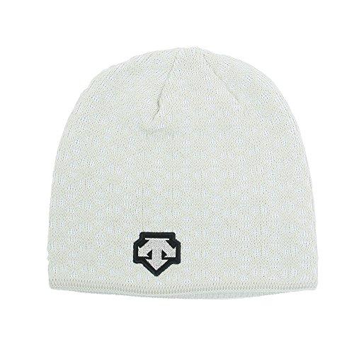 デサントDESCENTEスキー・スノーボード・ニット帽「ニットキャップ 銀イオン使用」DKC-7203 (オフホワイト)
