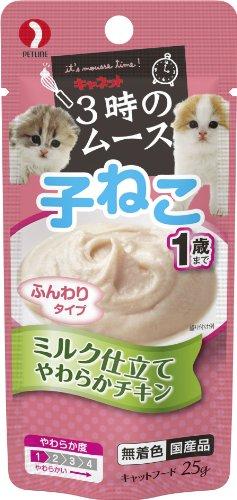 キャネット 3時のムース 子ねこ用 ミルク仕立て 25g×12個入り