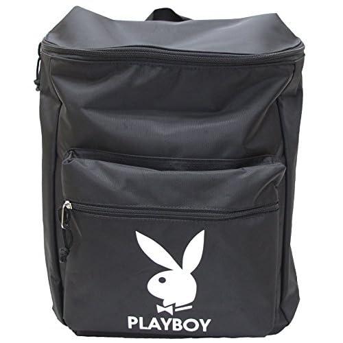 (プレイボーイ)PLAYBOY ロゴショルダーリュック(デイパック)(B4サイズ対応) ブラックホワイト