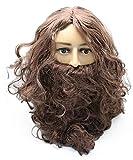 GLOBAL BOX 男性用 長髪 かつら ヒゲ セット 外国人 風 コスプレ
