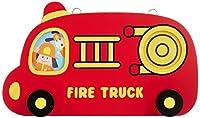 ユーカンパニー U-company Dou Dou フック&フォトフレーム ファイヤートラック フック付き 愛らしい形のフォトフレーム