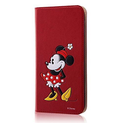 レイ・アウト iPhone7 Plus ケース ディズニー 手帳型 レザーケース(ICカード /スタンド機能) ポップアップ スタンディング/ミニーマウス RT-DP13J/MN