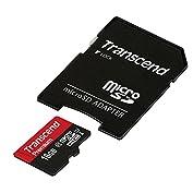 Transcend microSDHCカード 16GB Class10 UHS-I対応 無期限保証 ...