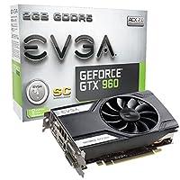 EVGA GeForce GTX 960 Super Clocked 2GB GDDR5 128bit, PCI-E 3.0, 2x Dual-Link DVI-I, 3, DP, G-SYNC Ready Graphics Cards 02G-P4-2962-KR 並行輸入