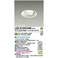 大光電機:LEDユニバーサルダウンライト LZD-91951NW
