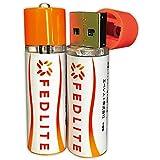 充電池 単3 リチウム電池 USBバッテリー 充電式 1200mAh 長時間 充電 充電式電池 充電電池 2個/1組 【FEDLITE】 (1パック)