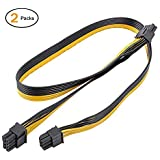 PCI-E 6Pin to Dual 8(6+2) Pin Splitter Power Cable, UCEC 6Pin Male to 2X 8(6+2) Pin Male GPU Adapter Connector Extender Cable