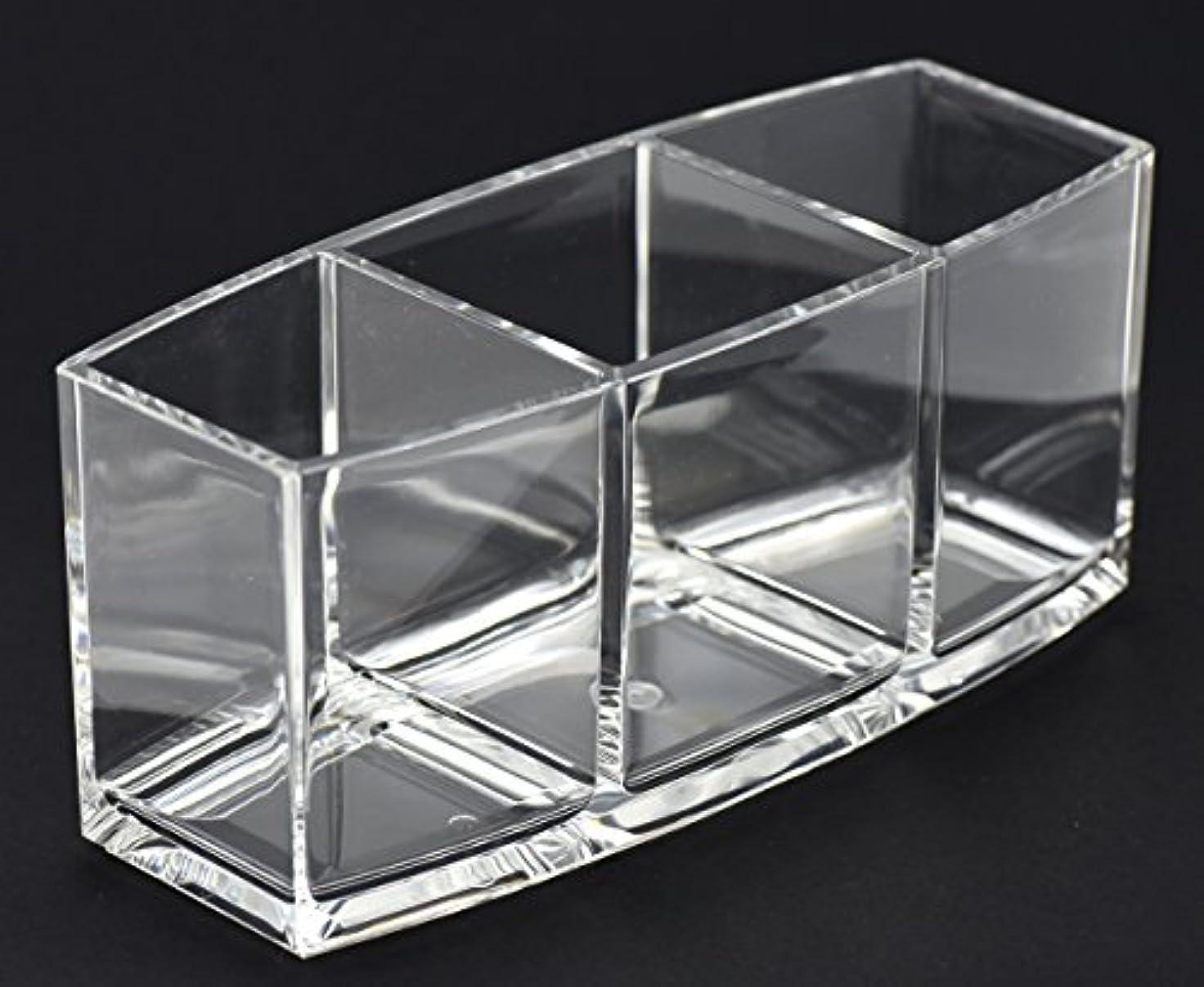 マトリックスゲインセイ人工FiveSeasonStuff 化粧収納ボックス メイクケース 透明アクリル 収納メイク 大容量 文房具 多機能 便利 3グリッド 小物入れ