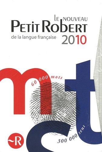 Boxed Nouveau Petit Robert and Petit Robert des Noms Propres 2010 (Dictionnaires Generalistes)