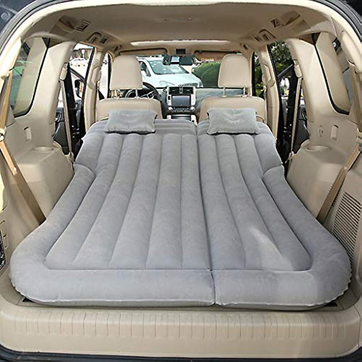 場合疾患メロディアスエアーベッドダブルサイズ SUVの膨脹可能なベッド車の女王 - セダンおよびトラックの後部座席旅行キャンプのための携帯用自動エアベッド、175×130×15cm (色 : Gray)