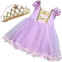 プリンセス ドレス ワンピース & ティアラ セット  ≪ Lollypops!!! オリジナル ≫ (Bラプンツェルイメージ(パープル), 5T(120タグ))
