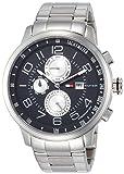 [トミーヒルフィガー]TOMMY HILFIGER 腕時計 Tyler ブラック文字盤 ステンレススチール クォーツ 日常生活防水 1790860 メンズ 【並行輸入品】