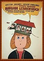 ポスター ボフダン ブテンコ Lesniewski Family、 Janusz Leski 1981 額装品 ウッドハイグレードフレーム(ナチュラル)