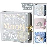 (Moon & Stars) - Baby Keepsake Boxes - Various Designs (Moon & Stars)