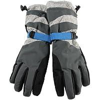 【WARMEN】(16色あり) メンズ/レディース スキーグローブ 手袋 てぶくろ スノーボードグローブ 大人用 防水 防寒 防風 カフス付 アジャスターバンド ゴムバンド 紛失防止差し込みバックル付き スノーファッション SX001 (XL, ブルーグレー(男))