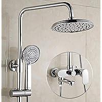 Bath部屋シャワーシステムwithハンドヘルドShowerheadsステンレススチール雨シャワーミキサーセットコンボAnnihilateウォーターフォールシャワー
