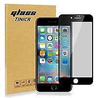 覗き見防止ガラスフィルム iPhone 8 7, TINICR 3D Touch対応/ 高硬度9H/ 油汚染防止/指紋防止/ 気泡ゼロ/傷防止/自動吸着 (iphone 7 8)