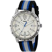 Timex Men's T2N754 Weekender Sport Black Gray & Blue Nylon Strap Watch