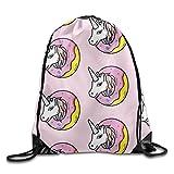 fesdcutyユニコーンヘッド梁口バックパックナップサックバックパック個性カスタマイズノベルティ旅行バッグ