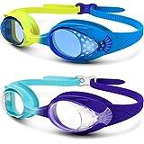 Outdoormaster一年保証 スイミングゴーグル 子ども キッズ スイミングゴーグル 水中眼鏡 子供 水泳ゴーグル 子ども用 スイムゴーグル 曇り防止 UVカット100% 水漏れ防止 抗菌素材 ベルト調節簡単 装着快適 水中メガネ 4-12歳