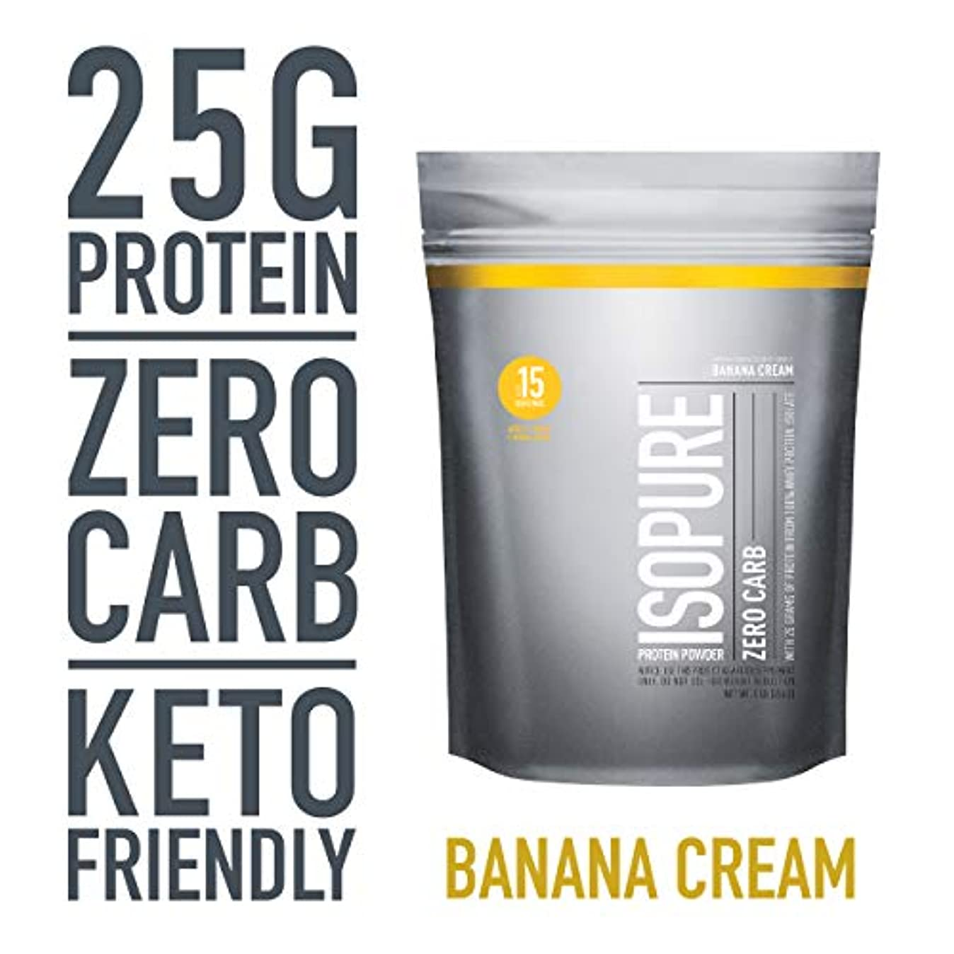 シャンパン内陸遺伝的Nature's Best - Isopure 完璧なゼロ炭水化物バナナ クリーム - 1ポンド。
