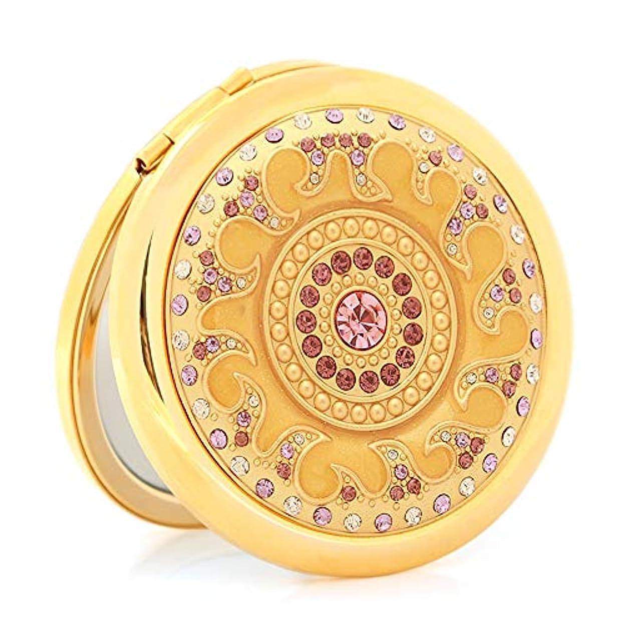 宗教空中包括的流行の ダイヤモンド両面折りたたみポータブルポータブルミラービジネスギフトクリエイティブ実用的な小さなミラー