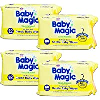 Baby Magic Gentle Baby Wipes Hypoallergenic Multi-(320 Wipes) by Baby Magic