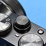 【F-Foto】 ソフトレリーズシャッターボタン フラットタイプ 『各社カメラ対応』 (ブラック)