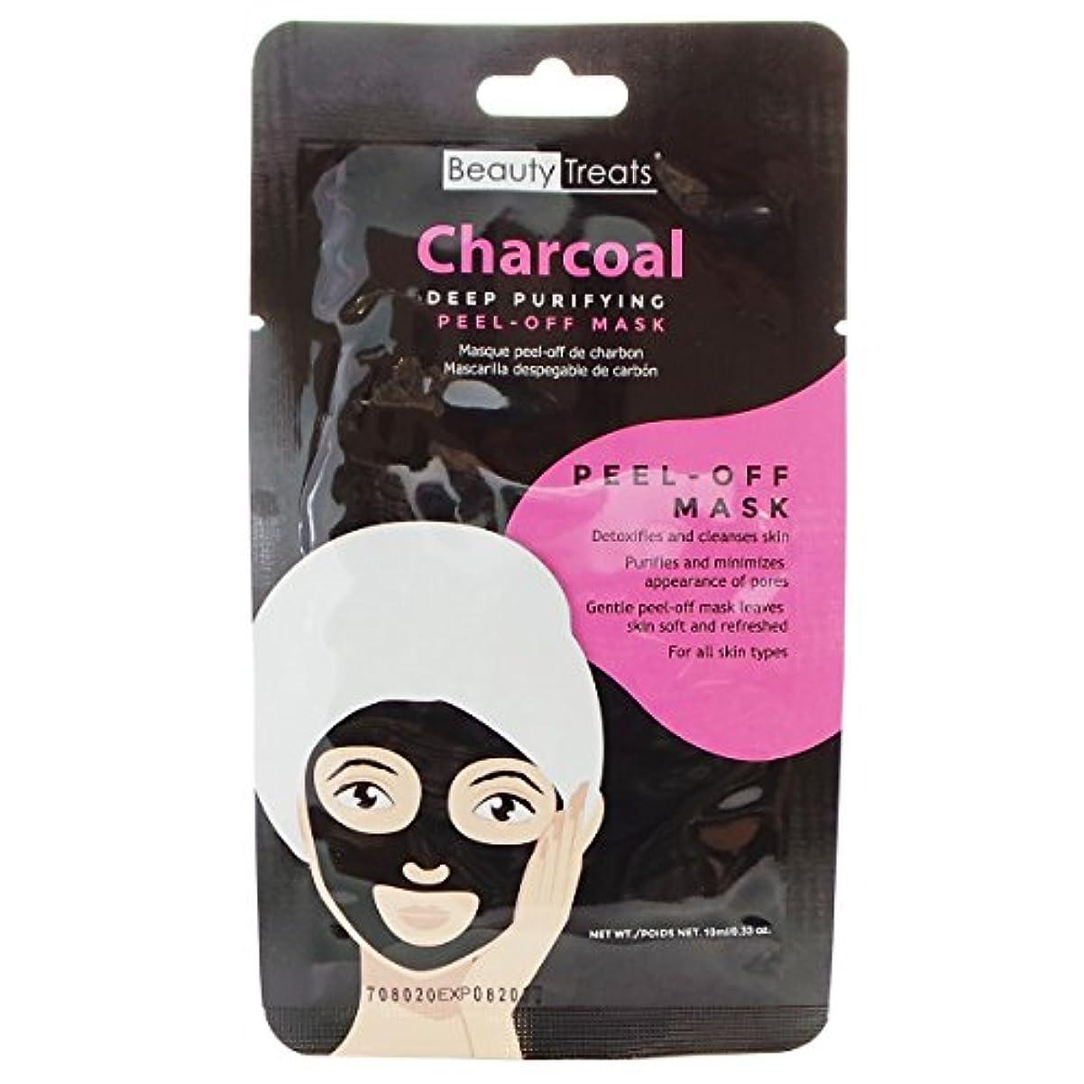 有名な裁判所好意(6 Pack) BEAUTY TREATS Deep Purifying Peel-Off Charcoal Mask (並行輸入品)