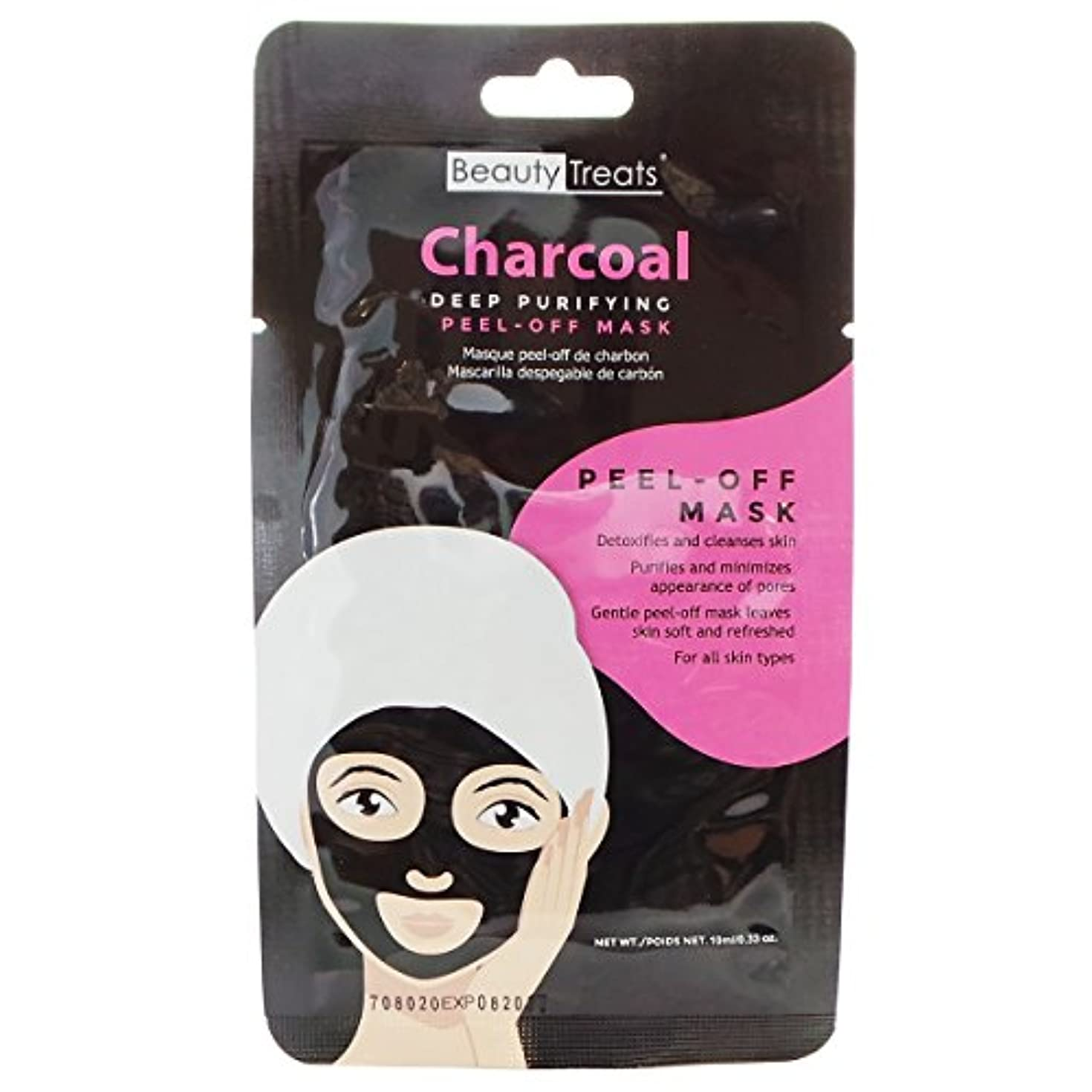 つかいます暖かく五(6 Pack) BEAUTY TREATS Deep Purifying Peel-Off Charcoal Mask (並行輸入品)