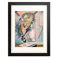 ポール・ゴーギャン Eugene Henri Paul Gauguin 「Nature morte a la tete de cheval」 額装アート作品