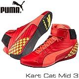 PUMA レーシングシューズ Kart Cat MID3 RED/YELLOW サイズ41(26.5cm)