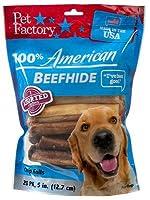 Pet Factory 78117 犬用トリート、American Beefhide Rawhide チップロール、アソートフレーバー、18個パック。 - 数量:10。