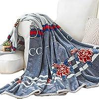 ファイバー フランネル毛布, シェルパ ぬいぐるみ シャギー 毛布 掛布 ファジィ リバーシブルひざ掛け スーパーソフト 暖かい ソファやベッドのすべてのシーズン-A 150x200cm(59x79inch)
