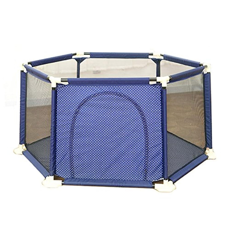 子供の庭屋外のポータブルプレイペン大きな安全フェンス1.8M (色 : Blue)