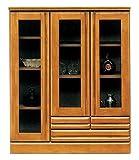 【幅90cm】食器棚 キッチンボード サイドボード リビングボード ダイニングボード キッチン棚 キッチン収納 木製 ガラス扉 完成品 日本製 高さ110cm/ki-jer-17 ワンカラー