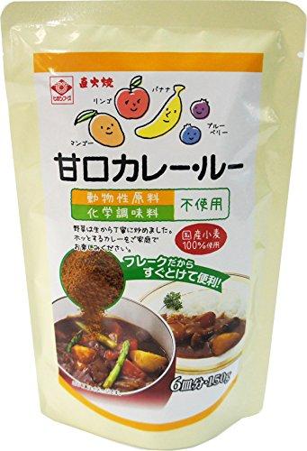 動物性原料、化学調味料不使用 ヒガシフーズ カレー・ルー甘口150g×10袋