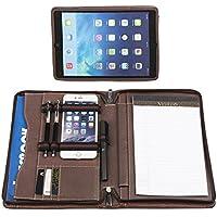 (コフェイス)Coface iPad Mini1/2/3/4用 高級ビジネスパッドフォリオ タブレットスタンド 多機能書類フォルダー ビジネスオーガナイザー ポートフォリオ a5 大容量 羊皮 ブラウン