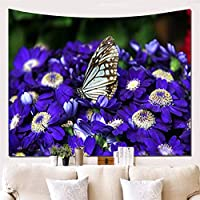 BNSDMM 多機能タペストリー蝶壁壁毛布装飾ビーチタオルぶら下げ布 (PATTERN : E, Size : 150*230cm)