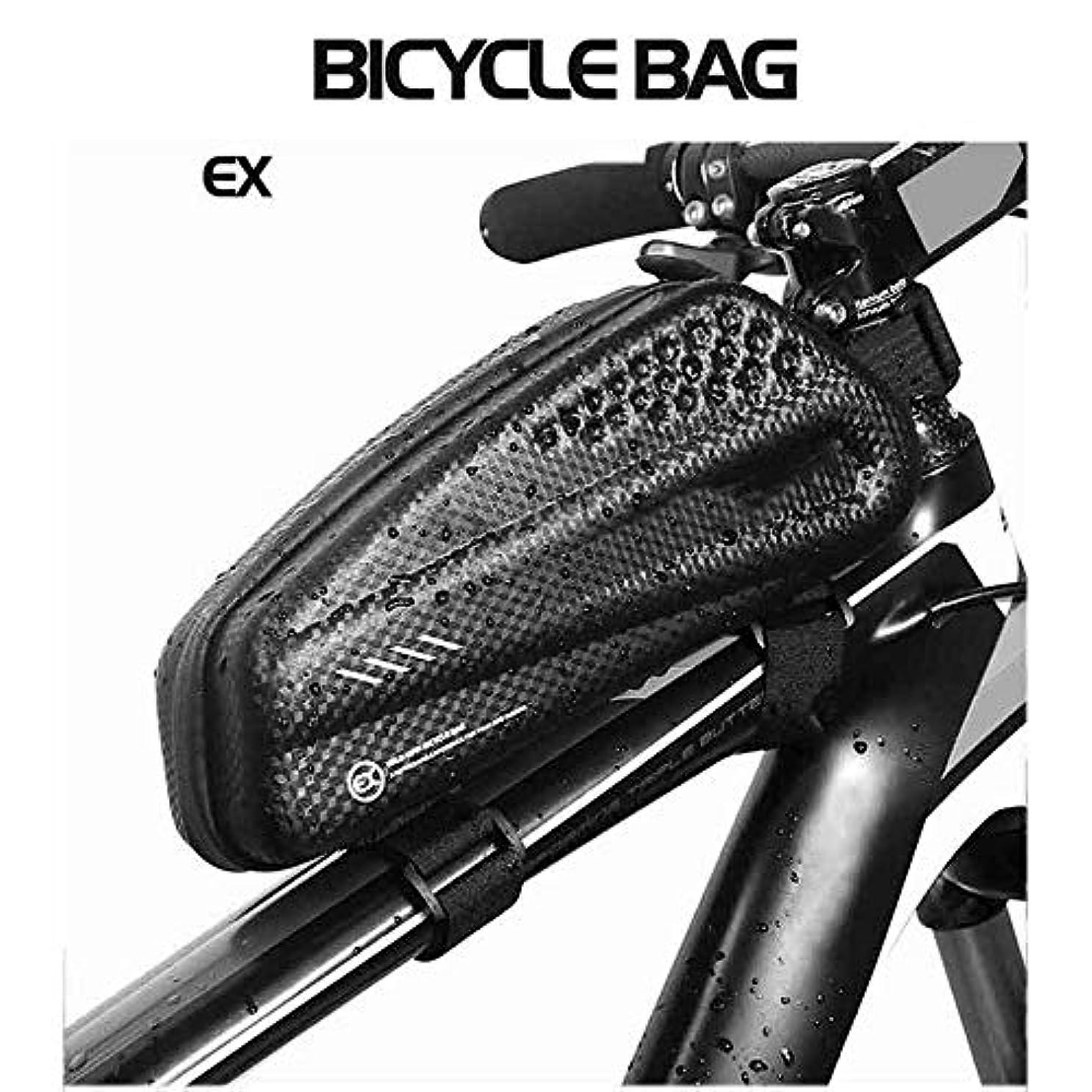 金貸し下品縞模様のマウンテンバイクバッグトップチューブ防雨防水自転車バッグフロントサイクリングフレームバッグMtb Accesorios