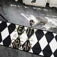 ドアマットリビングルームのカーペットにノルディック肥厚ノンスリップベッドルームドアマットキッチンバスルーム吸収マット (Color : Hot seal, Size : 50*170cm)