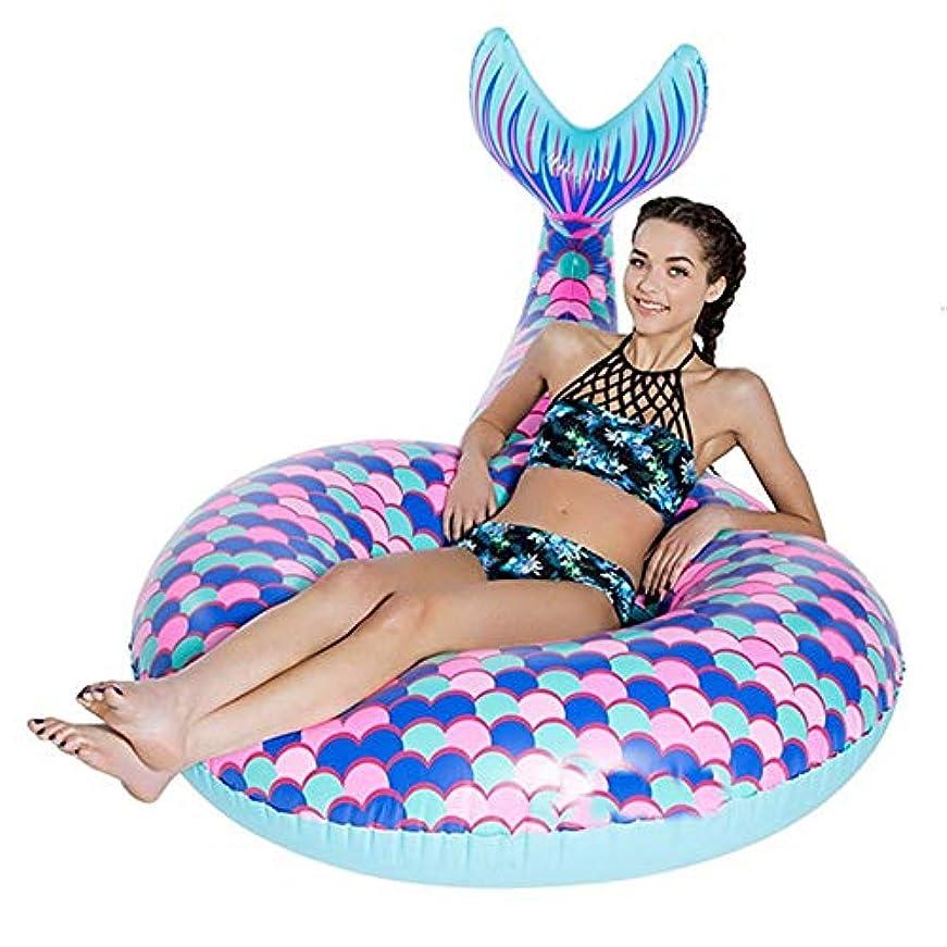 キャンドルについて遅らせるプール 夏のビーチ海辺のプール人魚の尾水泳リング水インフレータブル大人のおもちゃスーパーフローティング180 * 120 * 40CM HYBJP