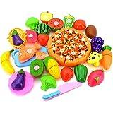 goupgolboll-24個/セットフルーツ野菜ピザ幼児子供ロールプレイキッチン切削おもちゃギフト