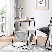 オークテーブルサイド 小さいサイドテーブル 組み立てがとても簡単 金属製脚付きアクセント家具 モダン ために リビングルーム 寝室